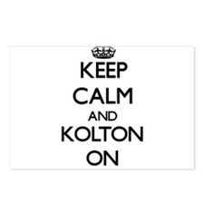 Keep Calm and Kolton ON Postcards (Package of 8)