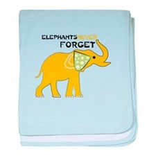 Elephants Forget baby blanket