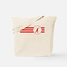 Shot Put Stripes (Red) Tote Bag