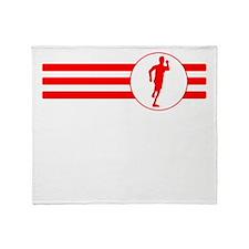 Runner Stripes (Red) Throw Blanket