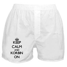 Keep Calm and Korbin ON Boxer Shorts