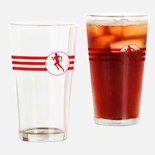 Runner Stripes (Red) Drinking Glass