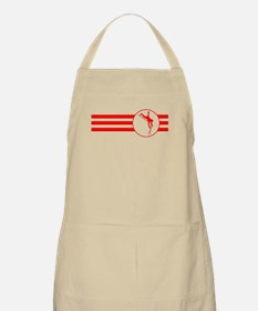 Pole Vaulter Stripes (Red) Apron