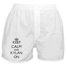 Keep Calm and Kylan ON Boxer Shorts