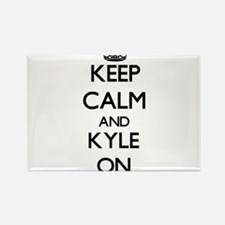 Keep Calm and Kyle ON Magnets