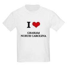 I love Graham North Carolina T-Shirt