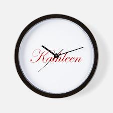 Kathleen-Edw red 170 Wall Clock