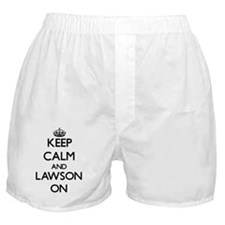 Keep Calm and Lawson ON Boxer Shorts