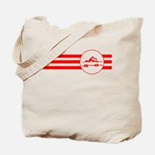 Swimmer Stripes (Red) Tote Bag