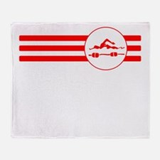 Swimmer Stripes (Red) Throw Blanket