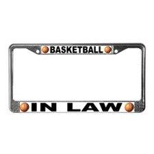 Basketball In Law License Plate Frame