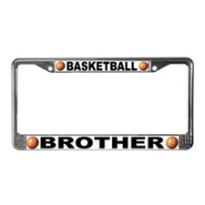 Basketball Brother License Plate Frame