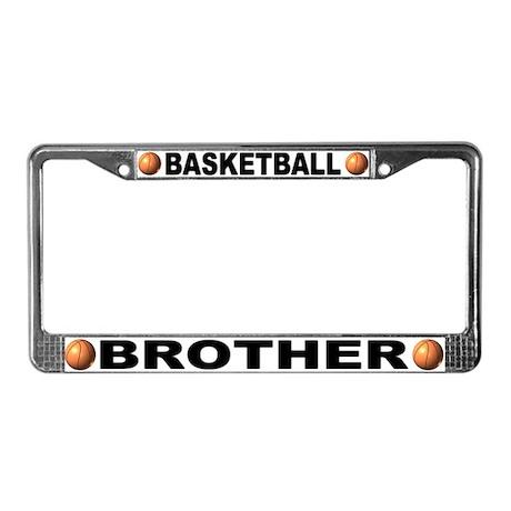 Basketball Brother License Plate Frame