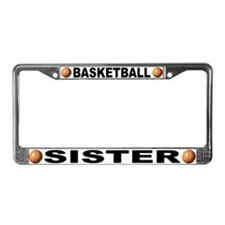 Basketball Sister License Plate Frame
