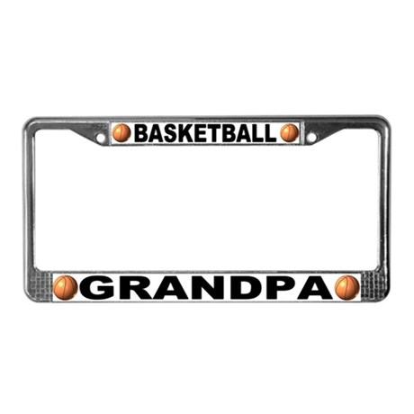 Basketball Grandpa Chrome License Plate Frame