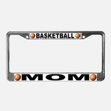 Basketball Mom Chrome Steel License Plate Frame