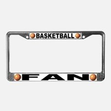 Basketball Fan Chrome Steel License Plate Frame