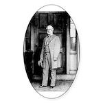 Lee portrait Oval Sticker