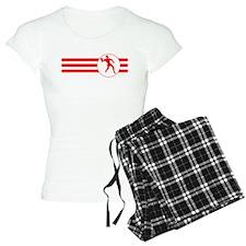 Racquetball Player Stripes (Red) Pajamas