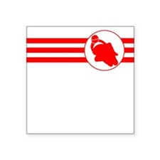 Motorcycle Racing Stripes (Red) Sticker
