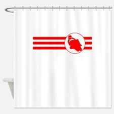Motorcycle Racing Stripes (Red) Shower Curtain