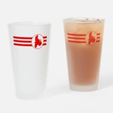 Motorcycle Racing Stripes (Red) Drinking Glass