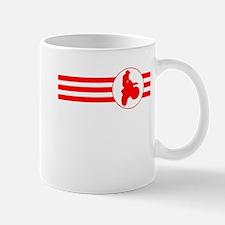 Motorcycle Racing Stripes (Red) Mugs