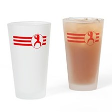 Martial Artist Stripes (Red) Drinking Glass