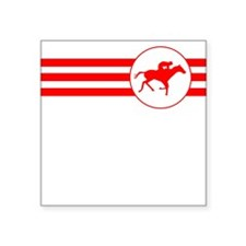 Horse Racing Stripes (Red) Sticker