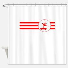 Pommel Horse Stripes (Red) Shower Curtain