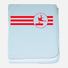 Pommel Horse Stripes (Red) baby blanket