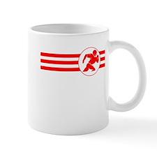 Football Player Stripes (Red) Mugs