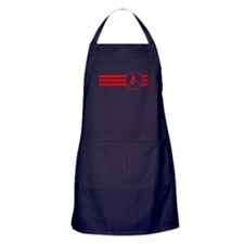 Fencer Stripes (Red) Apron (dark)