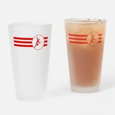 Fencer Stripes (Red) Drinking Glass