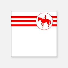 Equestrian Stripes (Red) Sticker