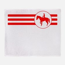 Equestrian Stripes (Red) Throw Blanket