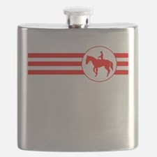 Equestrian Stripes (Red) Flask