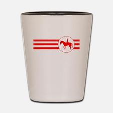 Equestrian Stripes (Red) Shot Glass