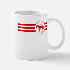 Equestrian Stripes (Red) Mugs