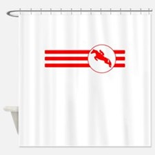 Cyclist Stripes (Red) Shower Curtain