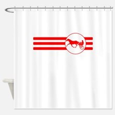 Harness Racing Stripes (Red) Shower Curtain