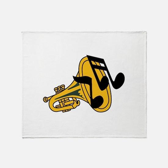 TRUMPET HORN Throw Blanket