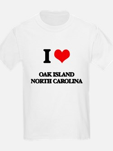 I love Oak Island North Carolina T-Shirt