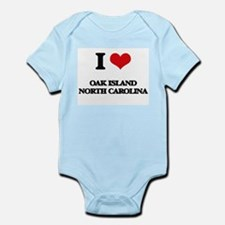 I love Oak Island North Carolina Body Suit