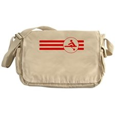 Rower Stripes (Red) Messenger Bag