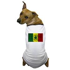 Distressed Senegal Flag Dog T-Shirt