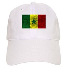 Distressed Senegal Flag Baseball Baseball Cap