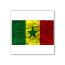 Distressed Senegal Flag Sticker