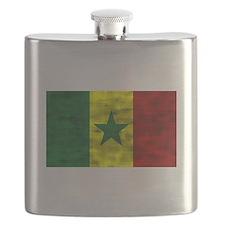 Distressed Senegal Flag Flask