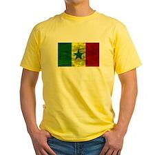 Distressed Senegal Flag T-Shirt